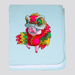 Chinese Dragon Pig baby blanket