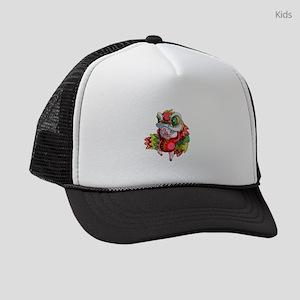 Chinese Dragon Pig Kids Trucker hat