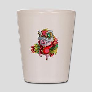Chinese Dragon Pig Shot Glass
