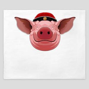 Pig Face King Duvet