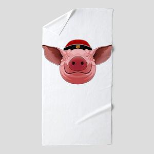 Pig Face Beach Towel