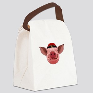 Pig Face Canvas Lunch Bag