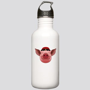 Pig Face Stainless Water Bottle 1.0L