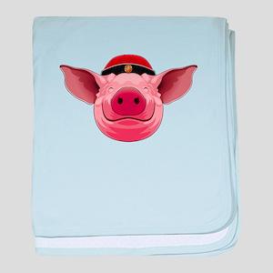 Pig Face baby blanket