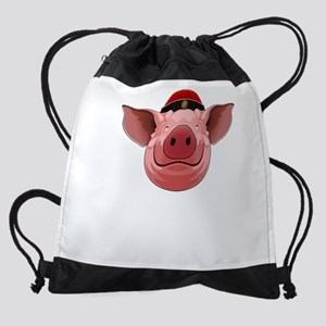 Pig Face Drawstring Bag