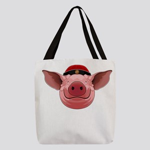 Pig Face Polyester Tote Bag