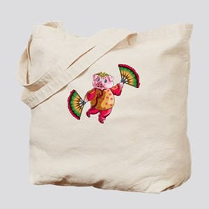Dancing Chinese New Year Pig Tote Bag
