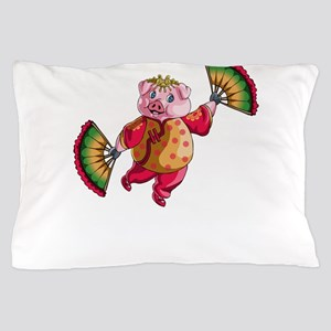 Dancing Chinese New Year Pig Pillow Case