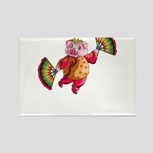 Dancing Chinese New Year Pig Magnets