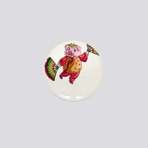 Dancing Chinese New Year Pig Mini Button