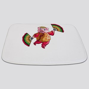 Dancing Chinese New Year Pig Bathmat