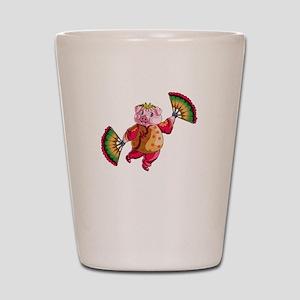 Dancing Chinese New Year Pig Shot Glass