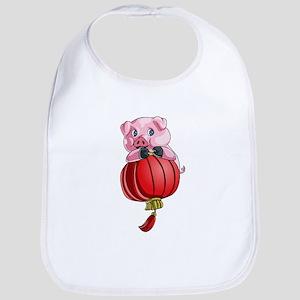 Chines New Year Pig Baby Bib