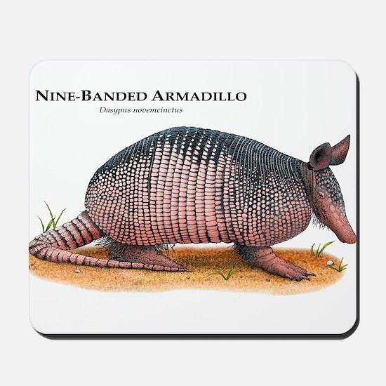 Nine-Banded Armadillo Mousepad