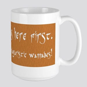 """Pagans Here First"" Large Mug"