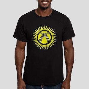 Kyrgyzstan Symbol Men's Fitted T-Shirt (dark)