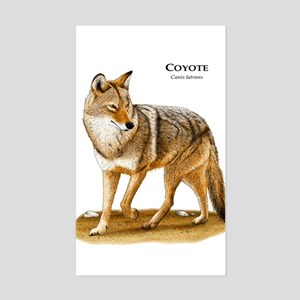 Coyote Rectangle Sticker