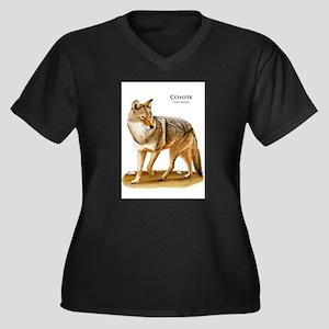 Coyote Women's Plus Size V-Neck Dark T-Shirt