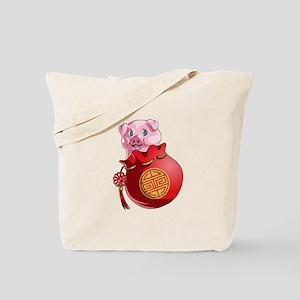 Chines New Year Pig Tote Bag