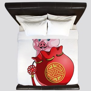 Chines New Year Pig King Duvet