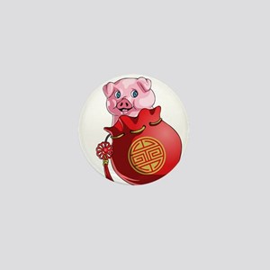 Chines New Year Pig Mini Button
