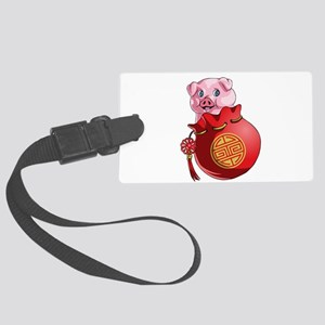 Chines New Year Pig Large Luggage Tag