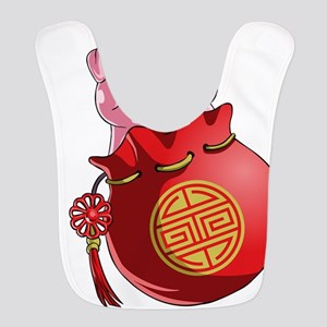 Chines New Year Pig Polyester Baby Bib