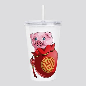 Chines New Year Pig Acrylic Double-wall Tumbler