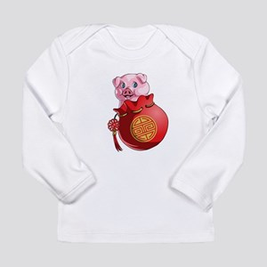 Chines New Year Pig Long Sleeve T-Shirt