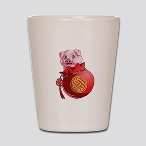Chines New Year Pig Shot Glass