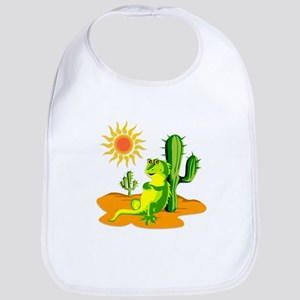 Cactus in the Desert Iguana Bib