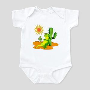 Cactus in the Desert Iguana Infant Bodysuit