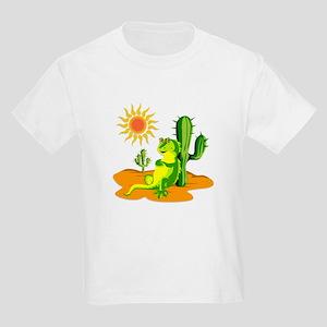 Cactus in the Desert Iguana Kids Light T-Shirt