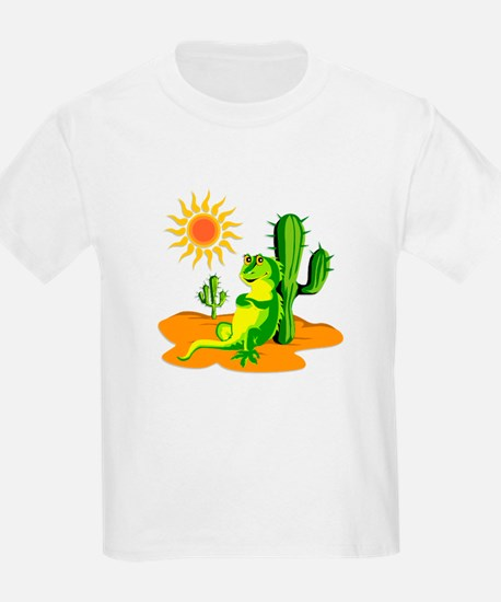 Cactus in the Desert Iguana T-Shirt
