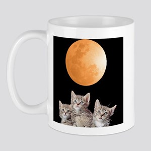 Three Kitten Moon Mug