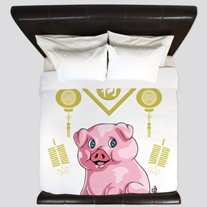 Chinese New Year Pig King Duvet