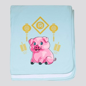 Chinese New Year Pig baby blanket