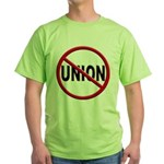 Anti-Union Green T-Shirt