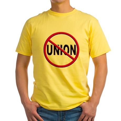 Anti-Union Yellow T-Shirt