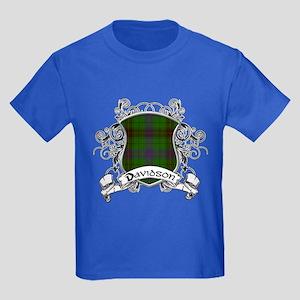 Davidson Tartan Shield Kids Dark T-Shirt