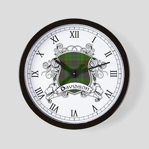 Davidson Tartan Shield Wall Clock