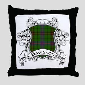 Davidson Tartan Shield Throw Pillow