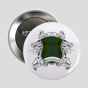 """Davidson Tartan Shield 2.25"""" Button"""