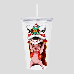 Pig Dragon Acrylic Double-wall Tumbler