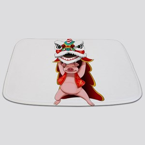 Pig Dragon Bathmat
