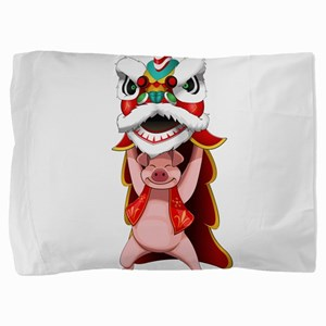 Pig Dragon Pillow Sham