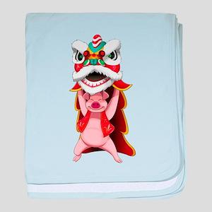 Pig Dragon baby blanket