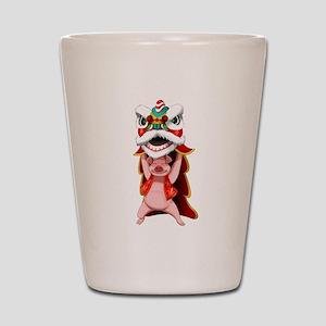 Pig Dragon Shot Glass