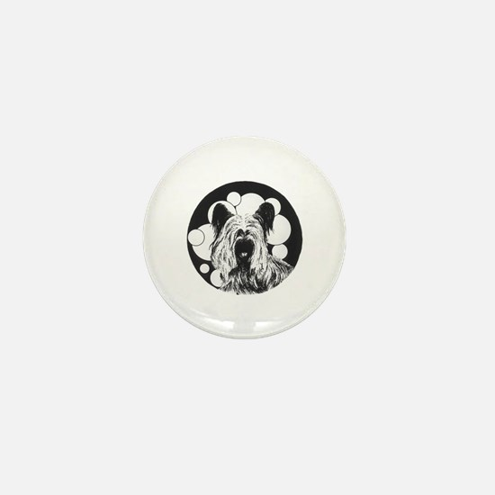 Skye Terrier Mini Button