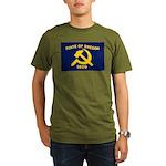 New Oregon Flag Organic Men's T-Shirt (dark)